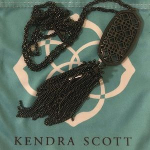 Kendra Scott Rayne Necklace Gunmetal Filigree